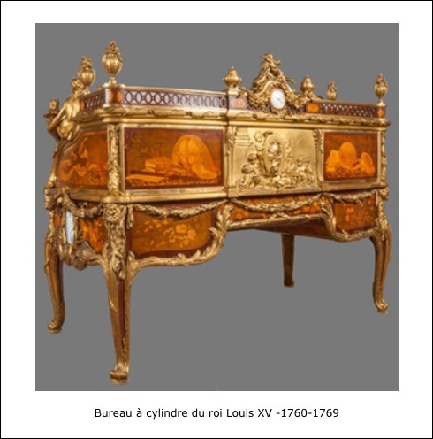 Bureau à cylindre du roi louis XV 1760-1769