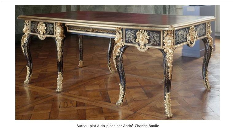 Bureau plat à 6 pieds – André-Charles Boulle
