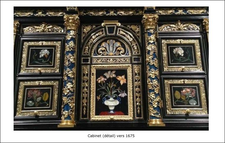 Cabinet en marqueterie d'ébène (1675)