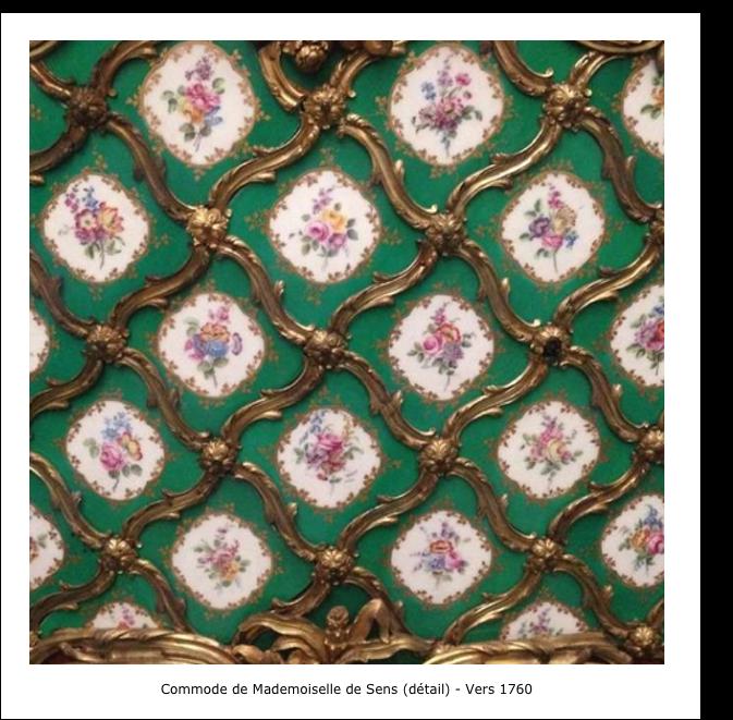 Commode de Mademoiselle de Sens -détail- vers 1760
