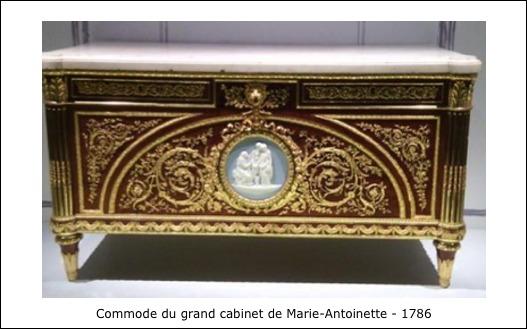 Commode du grand cabinet de Marie-Antoinette – 1786
