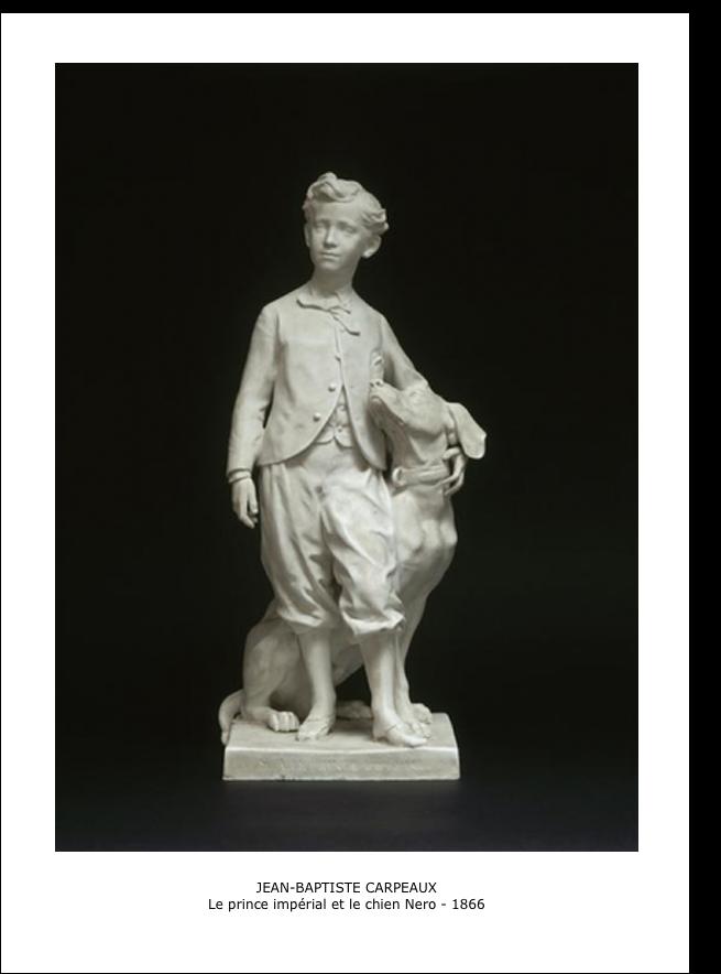 Jean-Baptiste Carpeaux – Le prince impérial et le chien Néro – 1866