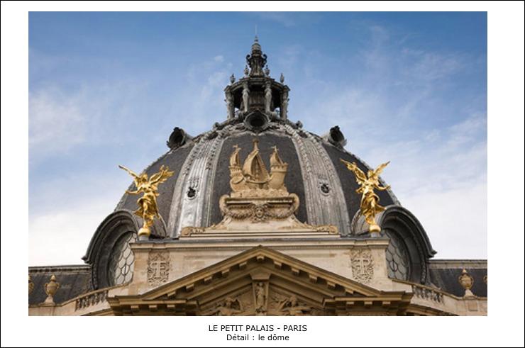 Le Petit Palais – Paris – Détail: le dôme