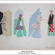 Sonia Delaunay - Dessins de mode - Croquis
