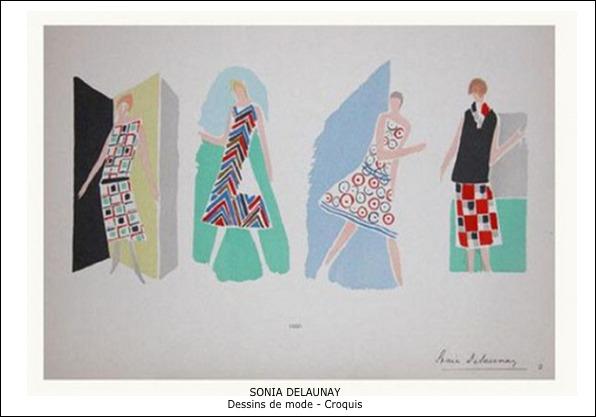 Sonia Delaunay – Dessins de mode – Croquis