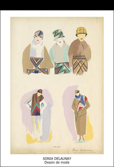 Sonia Delaunay – Dessin de mode