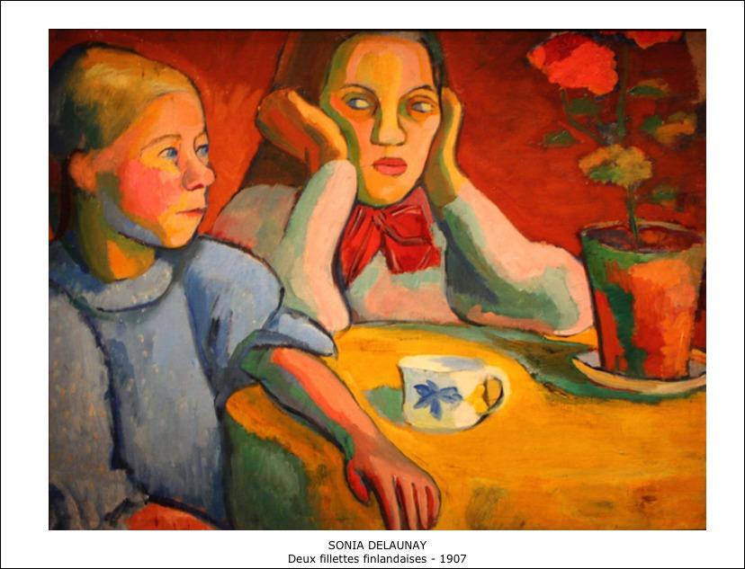 Sonia Delaunay – Deux fillettes finlandaises 1907