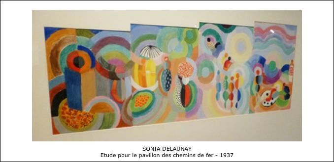Sonia Delaunay – Etude pour le pavillon des chemins de fer – 1937