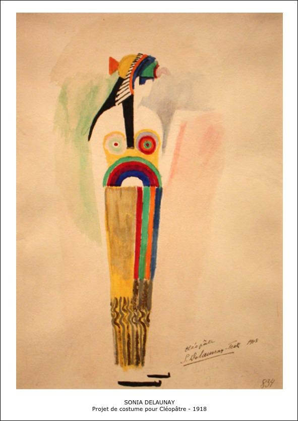 Sonia Delaunay – Projet de costume pour Cleopatre 1918
