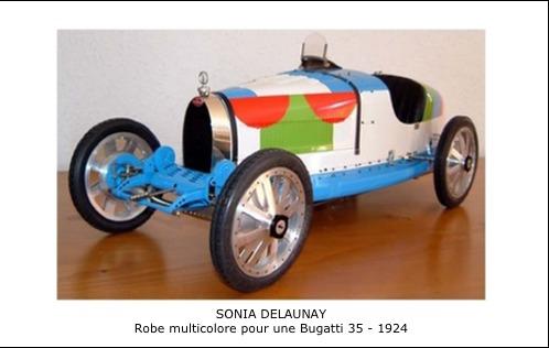 Sonia Delaunay – Robe multicolore Bugatti 35