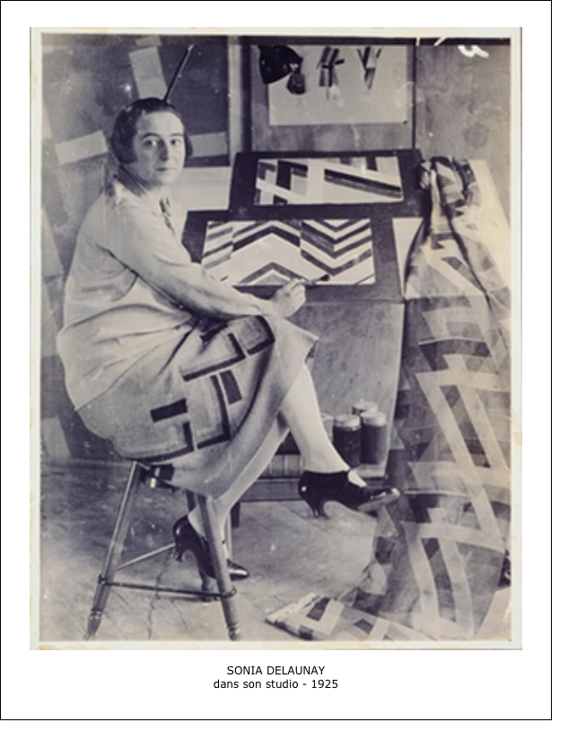 Sonia Delaunay dans son studio – 1925