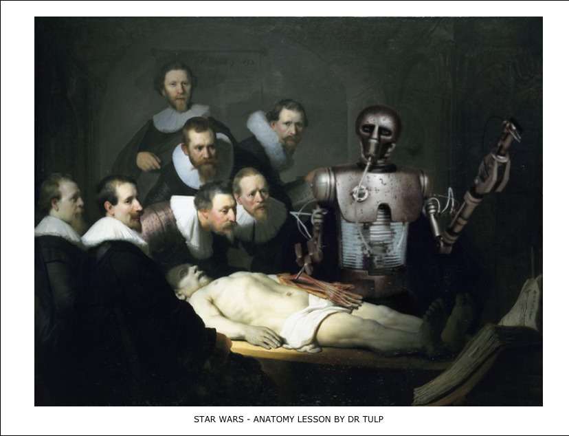 Star Wars – Anatomy lesson by Dr tulp
