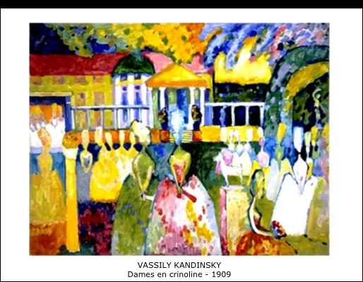 Vassily Kandinsky – Dame en crinoline – 1909