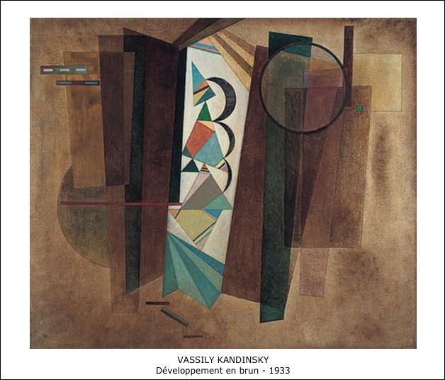 Vassily Kandinsky – Développement en brun – 1933