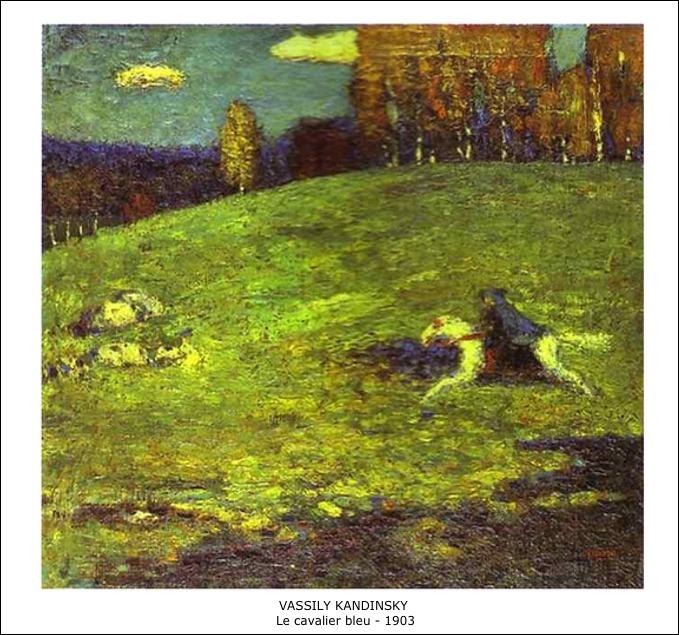 Vassily Kandinsky – Le cavalier bleu – 1903