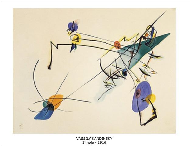 Vassily Kandinsky – Simple – 1916