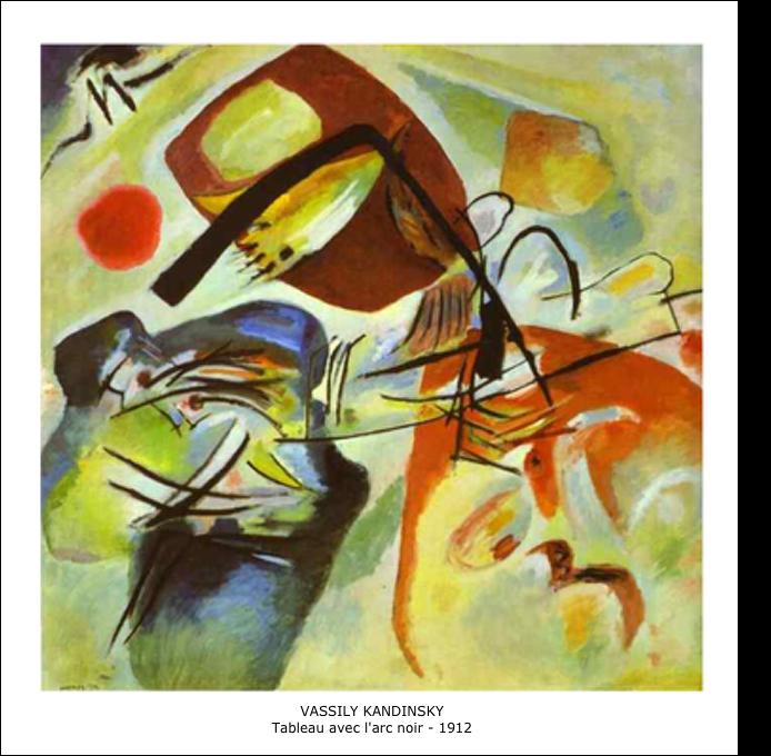 Vassily Kandinsky - Tableau avec l'arc noir - 1912