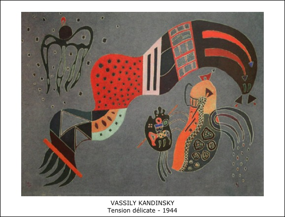 Vassily Kandinsky – Tension délicate – 1944