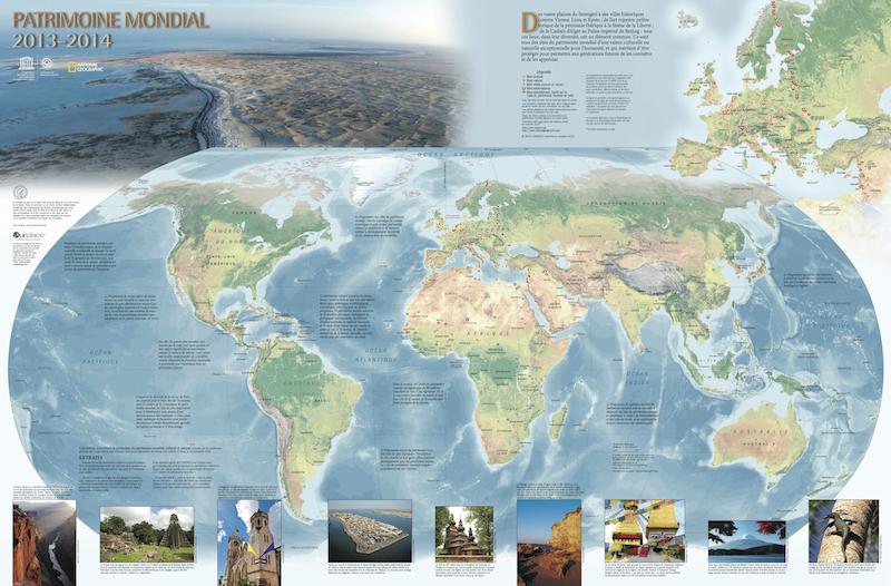 Carte du patrimoine mondial 2014 – UNESCO