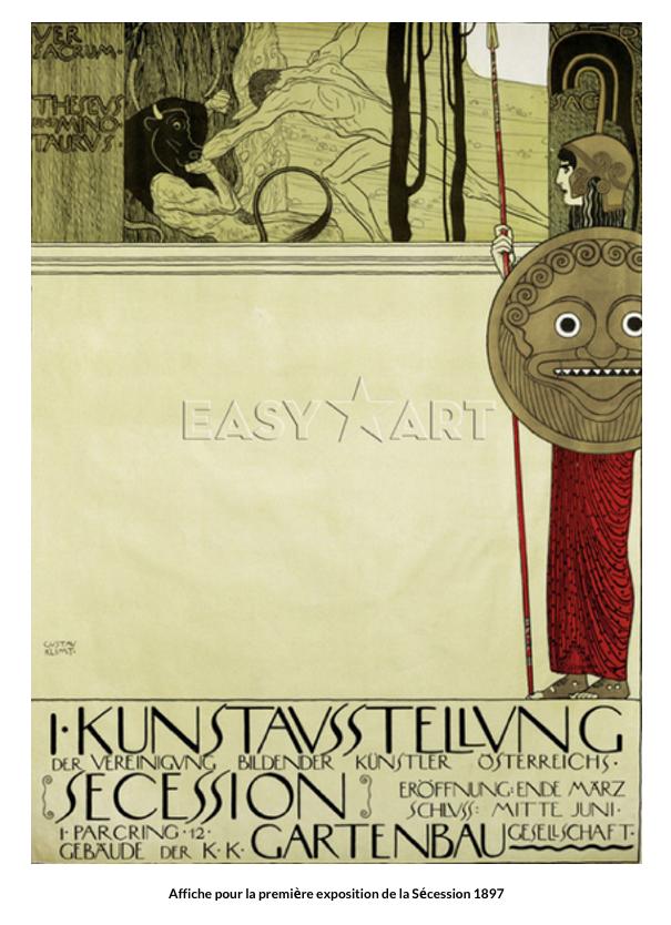 Affiche pour la première exposition de la Sécession 1897