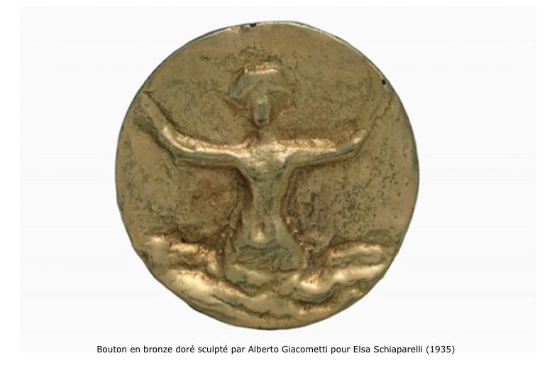 Bouton Alberto Giacometti pour Elsa Schiaparelli (1935)