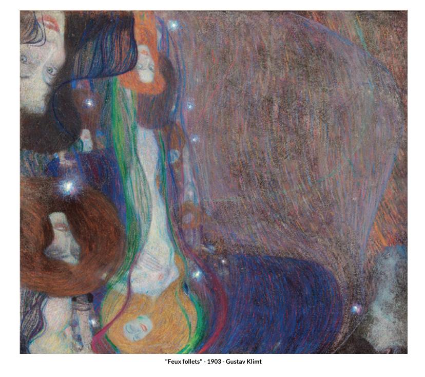 Feux follets – 1903 de Gustav Klimt