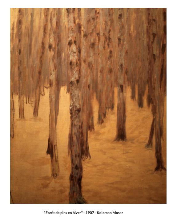 Forêt de pins en hiver – 1907 –  Koloman Moser