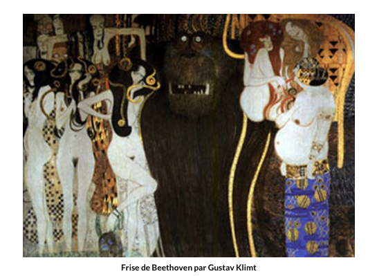 Frise de Beethoven par Gustav Klimt