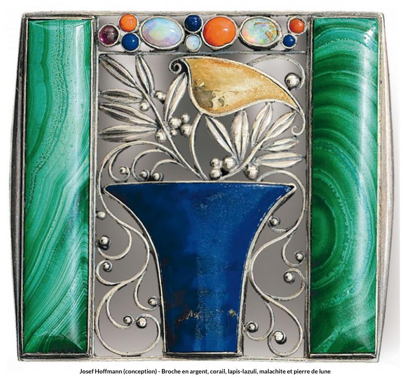 Josef Hoffmann – Broche Art Nouveau