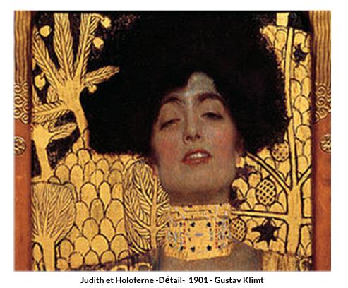 Judith et Holofernes -Détail-  1901 – Gustav Klimt