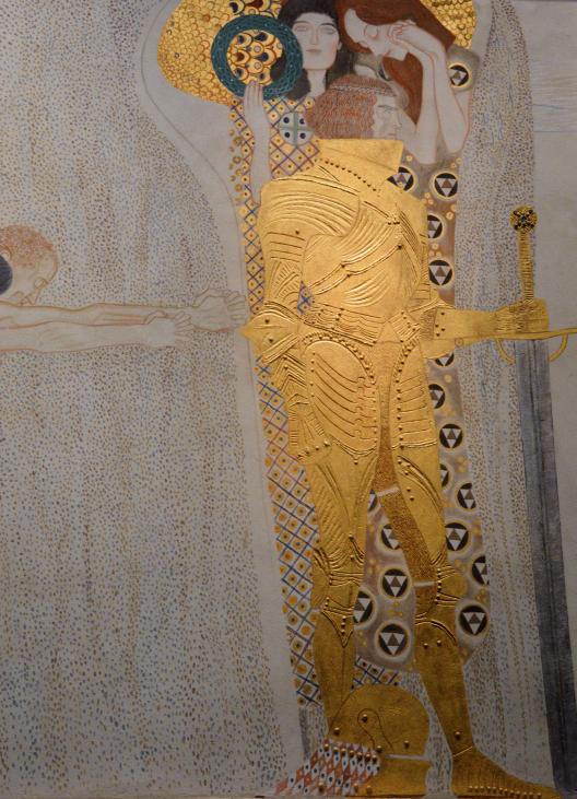 L'Invinsible guerrier – Frise Beethoven par Klimt