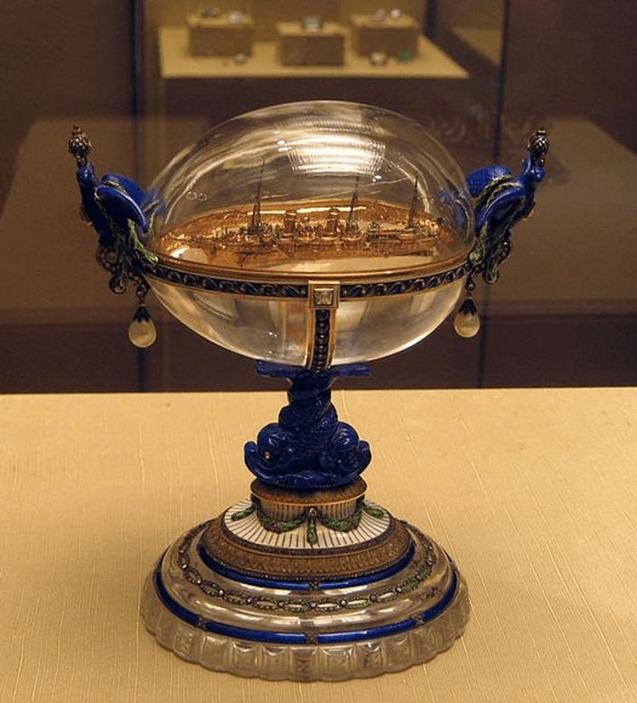 Œuf au Standaart, yacht impérial – 1909 – Fabergé