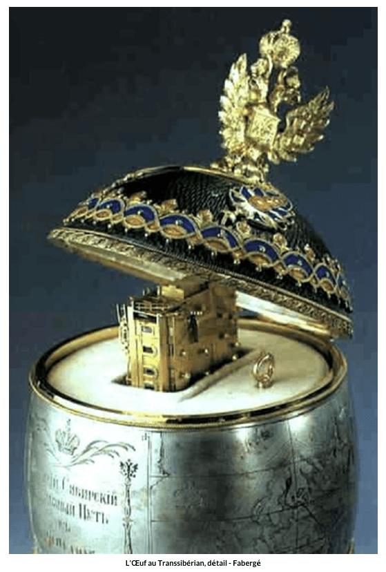 Œuf au Transsibérian, détail – Fabergé
