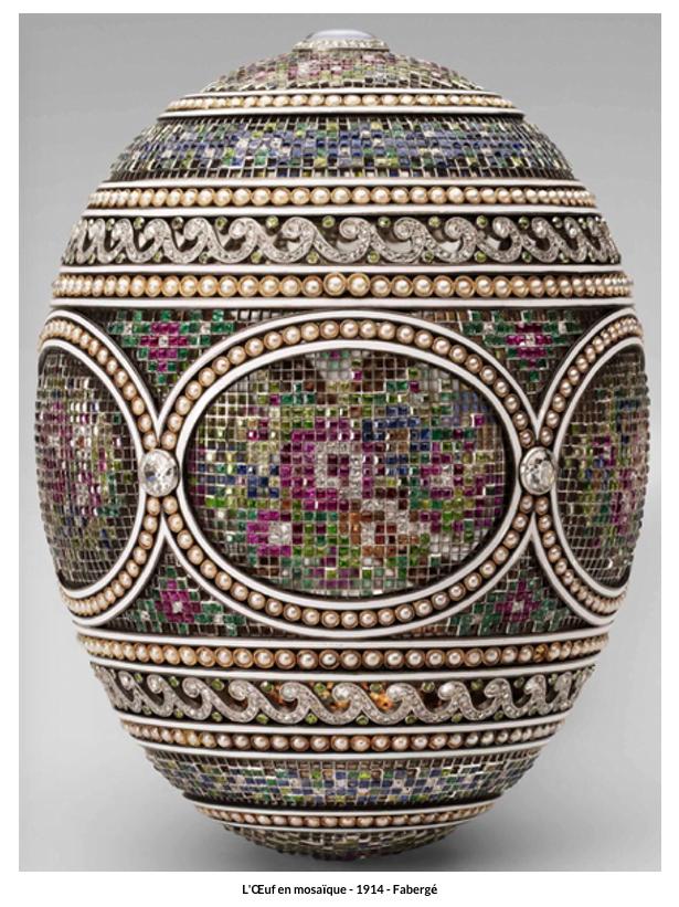 Œuf en mosaïque – 1914 – Fabergé