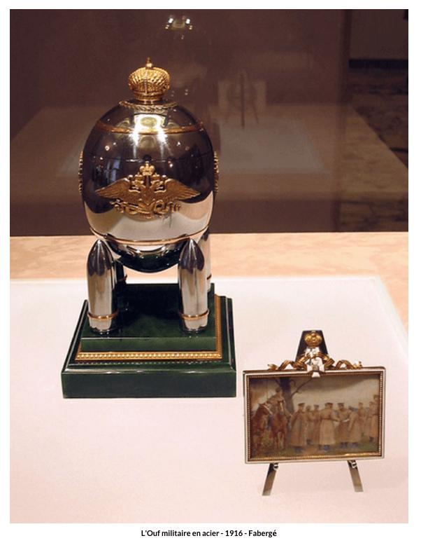 Œuf militaire en acier – 1916 – Fabergé