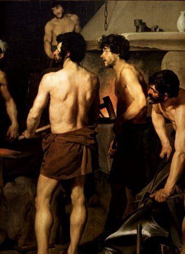 La Forge du Vulcain- Peinture - Diego Velázquez