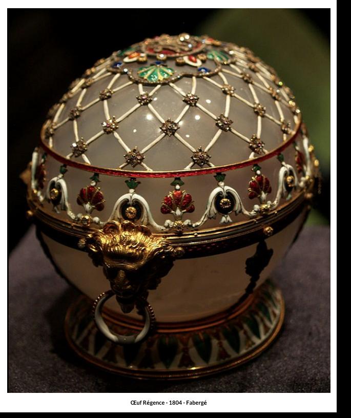 Œuf Régence – 1804 – Fabergé