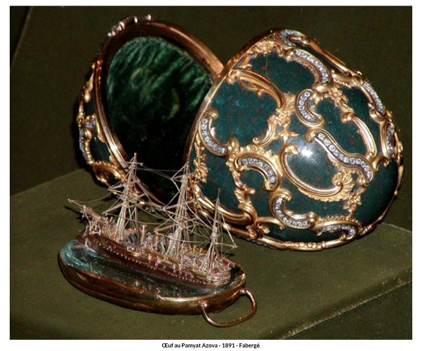 Œuf au Pamyat Azova – 1891 – Fabergé