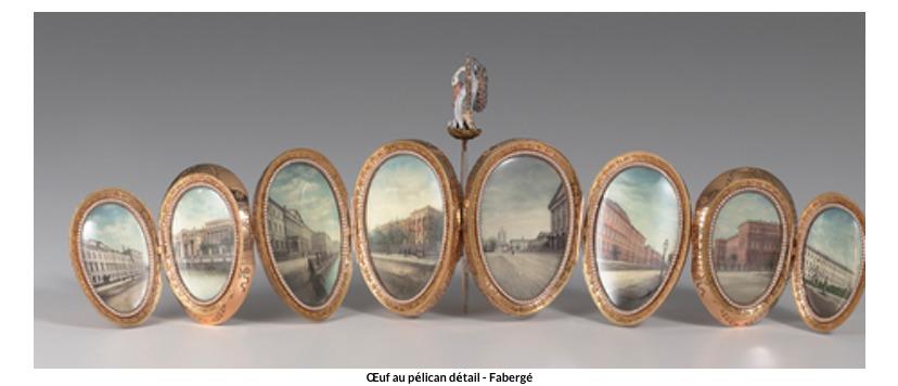 Œuf au pélican -détail  Fabergé