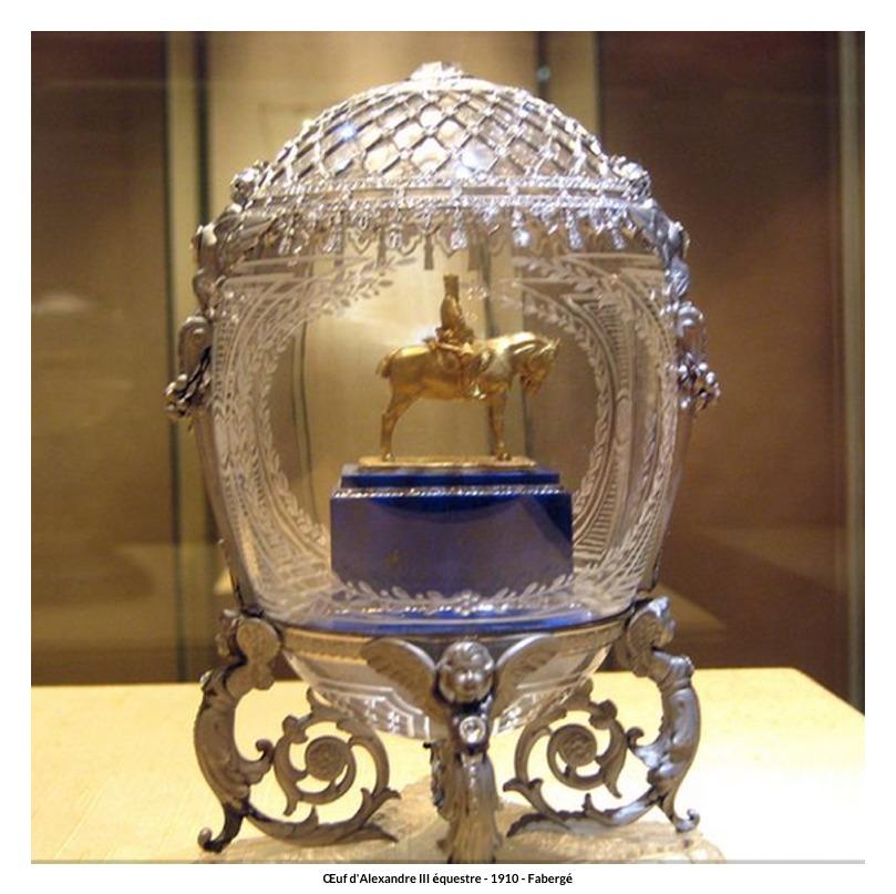 Œuf d'Alexandre III équestre – 1910 – Fabergé
