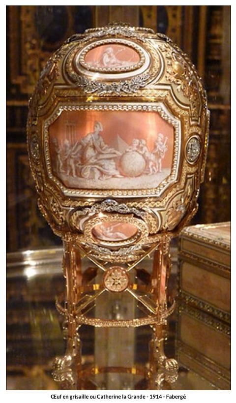 Œuf en grisaille ou Catherine la Grande – 1914 – Fabergé