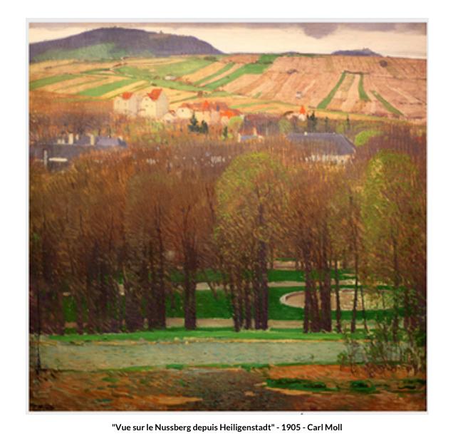 Vue sur le Nussberg depuis Heiligenstadt – 1905 – Carl Moll