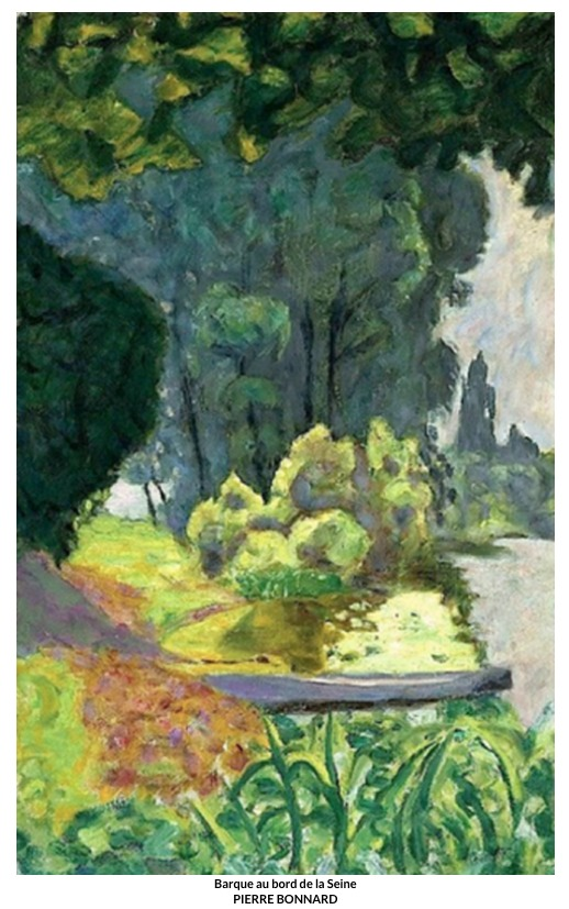 Barque au bord de la Seine – Pierre Bonnard