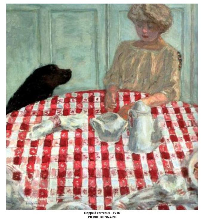 Bonnard – Nappe à carreaux – 1910