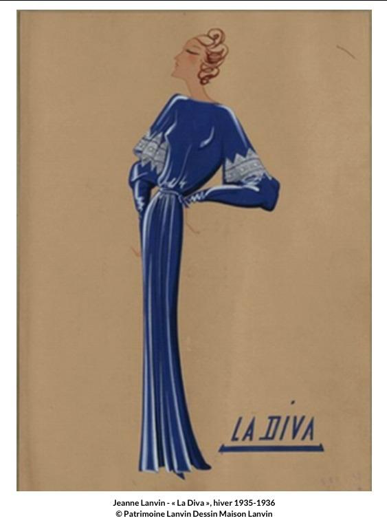 Jeanne Lanvin –  La Diva Hiver 1935-1936