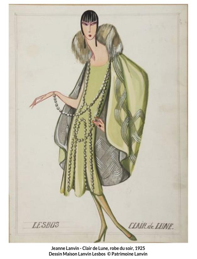 Jeanne Lanvin – Robe du soir Clair de Lune 1925