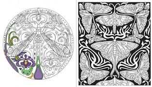 Art nouveau - A colorier