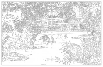 Jardin de Giverny - Claude Monet - Coloriage