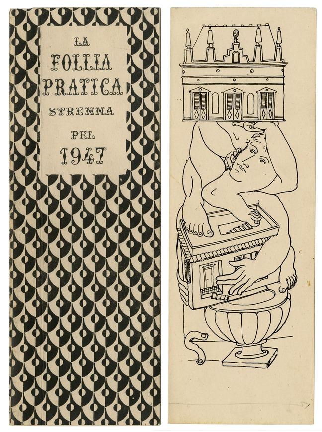 Piero Fornasetti, calendrier La follia pratica – 1947