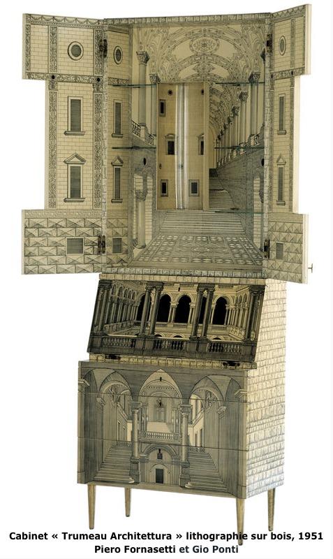 Trumeau Architecture par Piero Fornasetti et G Ponti